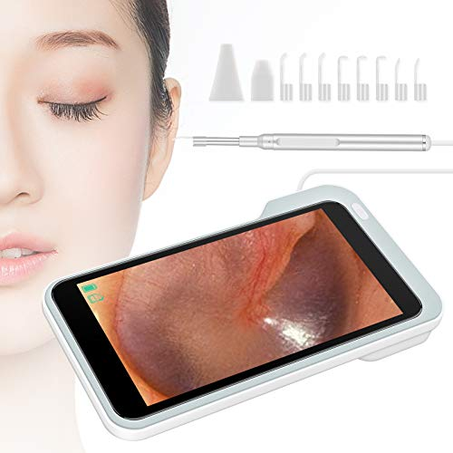 Digital Otoscope, Ear Endoscope with 5.0 Inch 1080P HD LCD Screen, Ear Wax Removal Tools, Ear Camera with 6 LED Lights, 32GB Card, Earwax Remover Kit