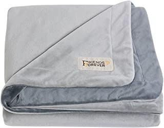 Friends Forever Deluxe Dog Blanket/Throw - 100% Pure Crystal Velvet, Soft Warm Fleece Pet Blanket for Dogs Cats Bed Couch Crate Kennel Car Trunk