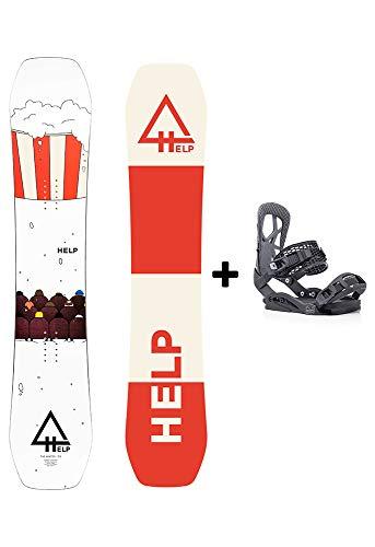 Help Snowboards Pack The Winter 2020-2022 und Drake Fifty Bindungen 2020-2021 - Snowboard & Snow - Pista & Freestyle - Größe 153 (Bindung Drake Fifty L (41-44 EU), 1 53)