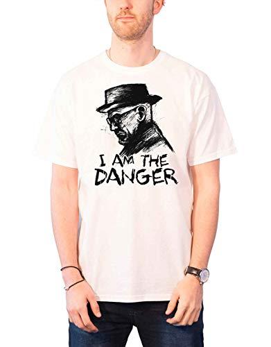 Officially Licensed Merchandise Breaking Bad I Am The Danger T-Shirt (White), Medium