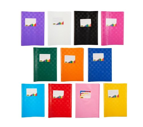 11 Heftumschläge/Hefthüllen DIN A5 / Baststruktur / 11 verschiedene Farben