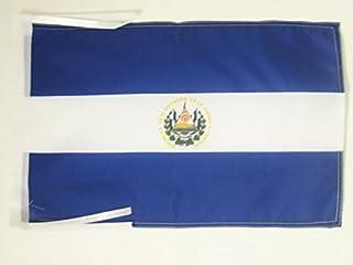 EL SALVADOR 扁平 45.72 cm x 30.48 cm 电线 - 萨拉维达斯小号扁平 30 x 45cm - 横幅 18x12 英寸 - AZ FLAG