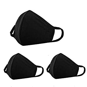 3 PCS Anti dust and Saw Dust Face Protections - Reusable Cotton Comfy Breathable Safety Air Fog Filtration - Outdoor Half Face Protections - Protection Pollution Face Face Protections for Women Man