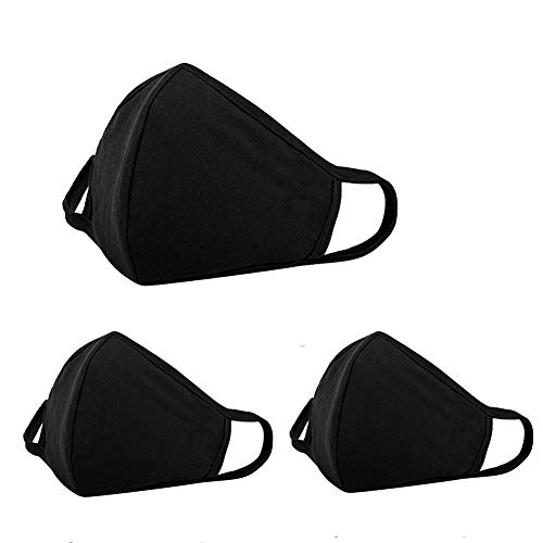 3 Pack Face Cover Unisex - Adjustable Reusable Cotton Warm Mouth Cover for Outdoor