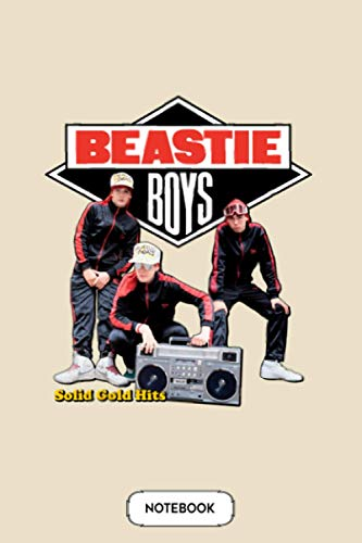 Beastie Boys Solid Gold Hits Notebook: Journal, 6x9 120 Pages, Diary, Matte Finish Cover, Planner, Lined College Ruled Paper