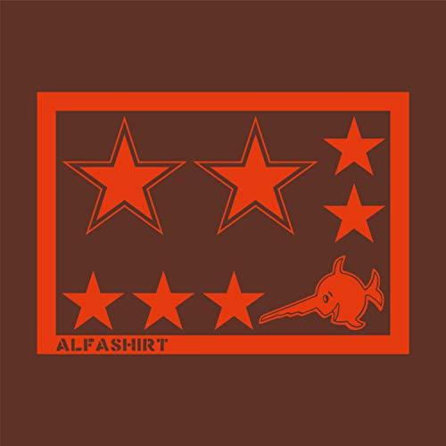 Copytec Sticker/Sticker–Red Army armata Rossa Stella Rossa Stella Rossa Red Star Russia Sovjet Stelle Set TUNIG Spar Set Stella Stella (10cm) (5cm) (Pesce 10cm Larghezza) # A083
