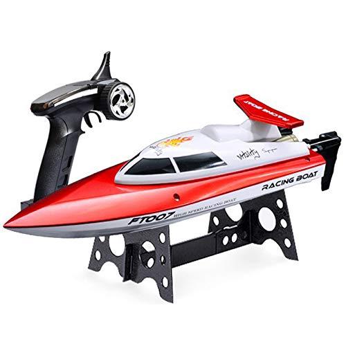 Link Co Ferngesteuertes Boot Schnelles RC-Boot-Seemodell für Pools und Seen Selbstaufrichtendes ferngesteuertes Boot mit zusätzlicher Batterie