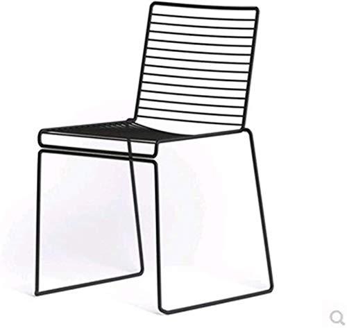 poltrone GSN Chair Nordic Gold in Ferro battuto Sedia Soggiorno Indietro Cava Sdraio ins caffè Netto Sedia Rossa Camera da Letto Sedia Trucco (Color : Black)