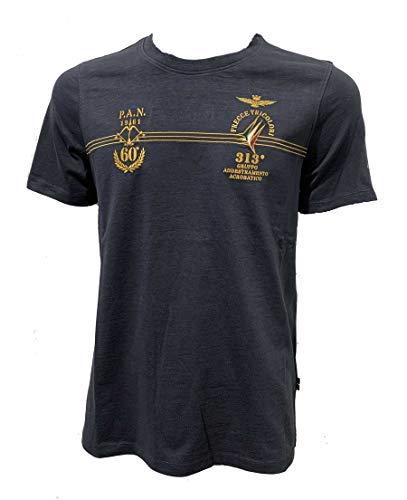 Aeronautica Militare t-Shirt TS1768 Frecce Tricolori, da Uomo, Maglia, Maglietta, Tshirt (Blu Navy, 2XL)