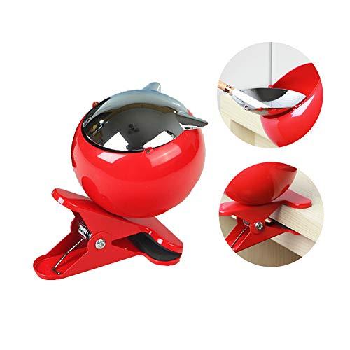 XYHWZY Kugelaschenbecher mit Clip und Winddichtes Deckel Gutes GefüHl und Hohe QualitäT Kreative Mode Home-Office-Hotel Auto Aschenbecher
