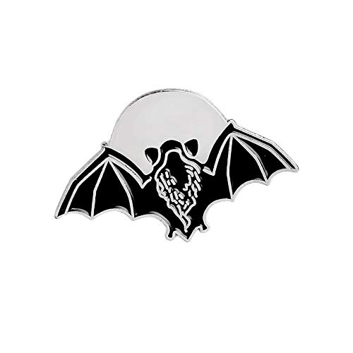 Cartoon Animal Punk Gothic Bats Bee Enamel pins Dark Skeleton Brooch Denim jacket Shirt Lapel Pin Button Badge for Women Men Kid