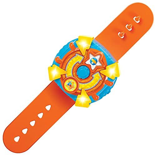BANDAI Vlad & Niki Adventure Time Watch – Niki\'s Adventure Time Watch (orangefarbenes Armband) – Spielzeug-Uhr mit Stimme und Lichteffekten für Abenteuerspiel, Mehrfarbig, P57712