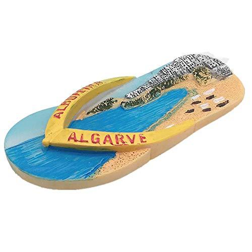 Imán para nevera 3D Albufeira Algarve Portugal, decoración para el hogar y la cocina, pegatina magnética de Albufeira Algarve Portugal, imán para nevera de viaje