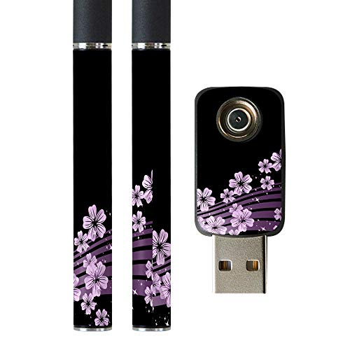 igsticker プルームテック Ploom TECH 専用スキンシール バッテリー スティック USB充電器 カバー ケース 保護 フィルム ステッカー スマコレ 000051 クール フラワー 黒 和柄 桜