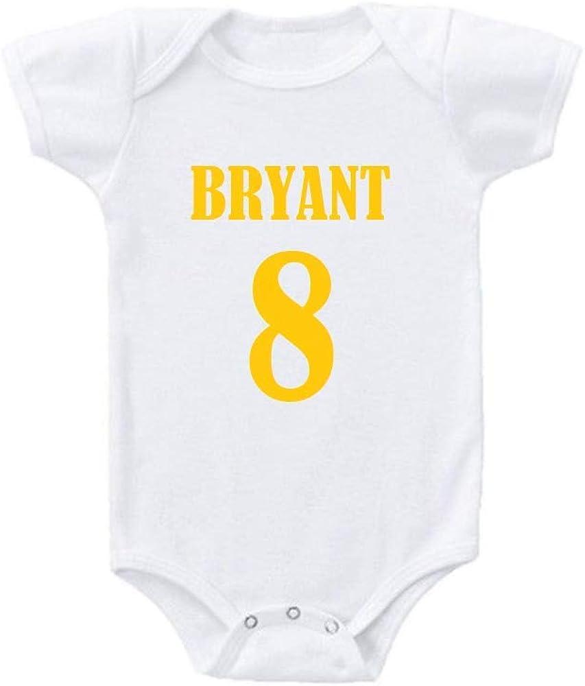 Bryant 8 Kobe Yellow Mamba Cute Love Babe Gift Babies Baby Bodysuit