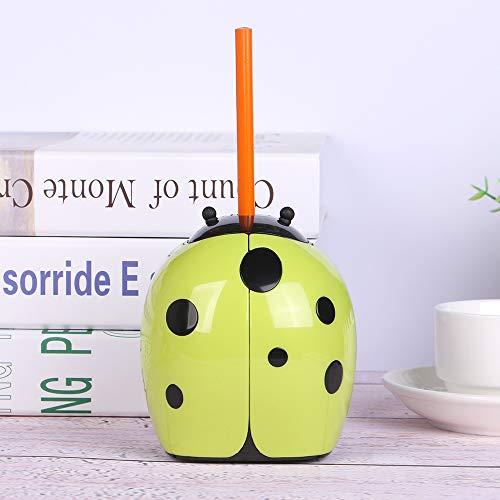 Eagle Cartoon Electric Pencil Sharpener, Cute Animal Design, Battery Operated (Ladybug)
