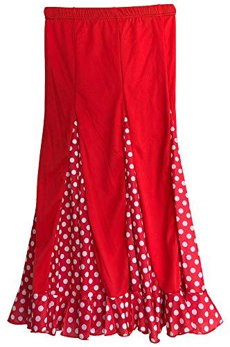 La Seña Flamenco Rock kinderen Spaanse jurken rood met witte stippen