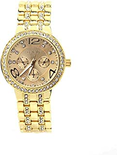 Geneva Gold Toned Stainless Steel Watch for Women
