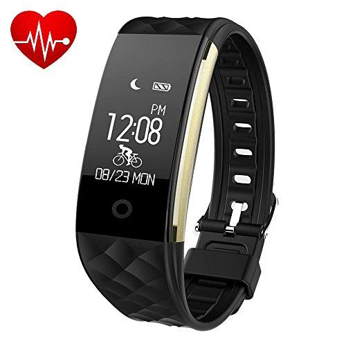 Makibes S2 SmartWatch Bluetooth 4.0 IP67 Pulsera Actividad Monitor de Actividad y Bluetooth para Android iOS IPhone Samsung HUAWEI HTC y Smartphones reloj de pulsera (Negro)