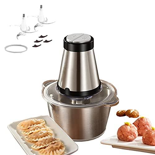 Procesador De Alimentos 300W1.8L Tazón De Vidrio Multifuncional Automático Carne Picada, Verduras, Cocción, Mezcla, Alimentos Complementarios, Máquina De Cocción con Ajo