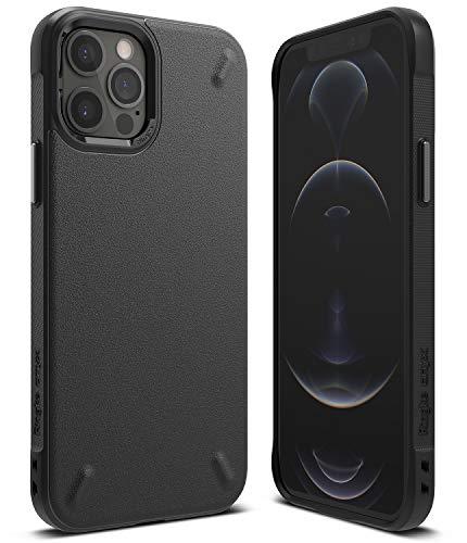 【Ringke】iPhone 12 ケース iPhone 12 Pro ケース 6.1インチ MagSafe 対応 ストラップホール タフ スマホケース [米軍MIL規格取得] 柔軟 落下防止 カバー Qi 充電 アイフォン12 ケース アイフォン12プロケース iPhone12 / iPhone12 Pro 2020 Onyx ケース (Black ブラック)