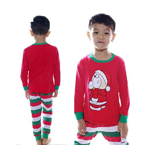 HuntGold 1 Sets Nouveau vêtement de nuit veste de pyjama d'enfants pour Noël(Taille: 5 ans)