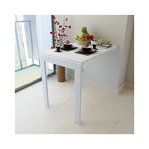 SGMYMX Ecktisch Multifunktionale Klapptisch Massivholzmöbel Esstisch Computertisch Laptop-Tisch (Color : White)