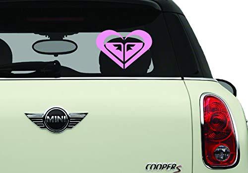 Roxy Heart Pink SK8/Surf/Snow/Water/Bike/Brands Automotive Decal/Bumper Sticker