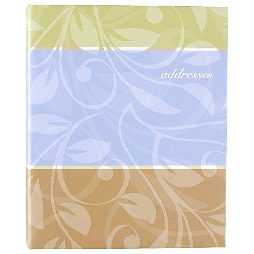 AT-A-GLANCE Livro de endereços, 3 anéis, 18 x 23 cm, designs de capa sortidos - As cores podem variar (TL76110)