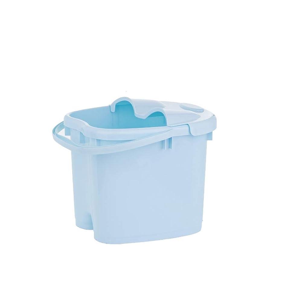 湖静脈苦しめるフットバスバレル- ?AMT携帯用高まりのマッサージの浴槽のふたの熱保存のフィートの洗面器の世帯が付いている大人のフットバスのバケツ Relax foot (色 : 青, サイズ さいず : 30.5cm high)