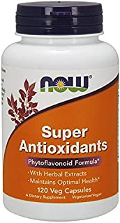 NOW Supplements, Super Antioxidants with Herbal Extracts and a Broad Spectrum of Flavonoids, 120 Veg Capsules