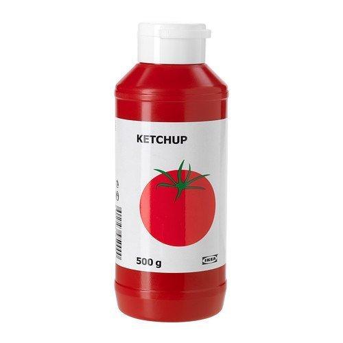 IKEA Tomaten-Ketchup KETCHUP süße Tomatensoße - in wiederverschließbarer 500g Flasche - für z.B. Hotdogs, Würstchen, Hamburger, Nudeln, etc.