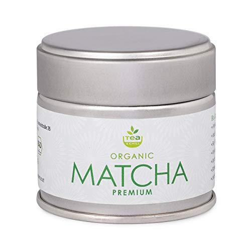tea4chill Matcha Tee 30g - Premium Qualität. Original Grüntee-Pulver aus Japan (Präfektur Aichi). Verpackt in hochwertiger Aromaschutzdose.