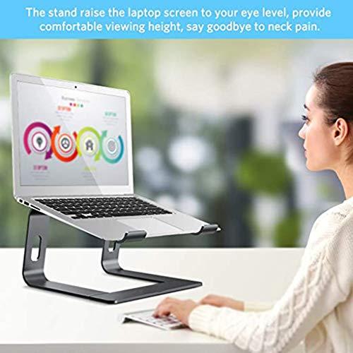 Hetangyuese Laptopständer: Demontierbar mit Belüftung, Tragbarer Notebook Ständer Kompatibel mit Laptop (10 inch~17 inch) MacBook Pro/Air, HP, Dell, Lenovo, Samsung, Acer, Huawei MateBook (Schwarz)