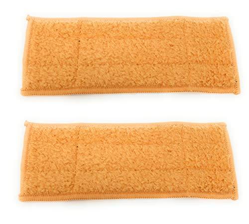 2 Stück Nass, Feucht oder Trocken Wischtücher (frei wählbar) Microfaser Pads, Tücher passend für iRobot Braava Jet 240 waschbar (Damp, Feucht)