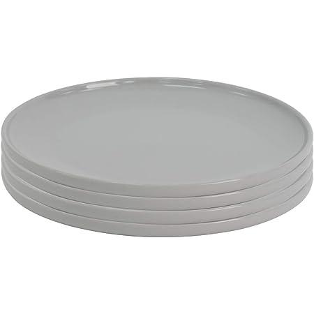 ProCook Stockholm - Vaisselle de Table en Grès - 4 Pièces - 27cm - Grande Assiette -Style Scandinave - Gris Clair