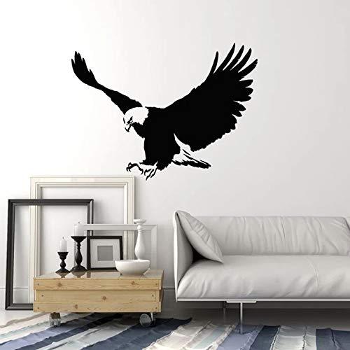 Flying Eagle pared calcomanía pájaro grande estilo tribal vinilo ventana pegatinas animales frescos arte mural decoración del hogar para dormitorio hombre cueva A5 42 × 56 CM