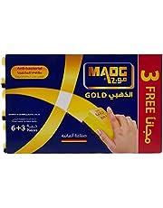 Maog Gold Sponge With Scourer, 9 Pcs