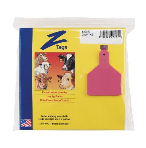 ZTags Lot de 25 étiquettes Vierges pour Mollets Rose