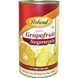 Roland Foods White Grapefruit Segments in Light Syrup, Specialty Imported Food, 43.3-Ounce Can