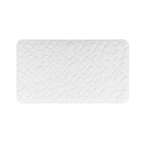Pumpko® Elegante Badewannenmatte rutschfest   40 x 70cm   Weiß   Duschmatte aus Naturkautschuk   Antirutsch Badewanneneinlage & Duscheinlage