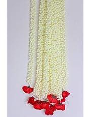 SHOPEE Artificial Rose Mogra Flower Hanging (Multicolour, 5 Pieces)