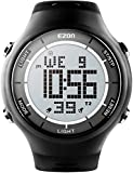 EZON Digital Outdoor Sports Watch with Stopwatches, Waterproof, Unisex Ultra-Thin Wristwatch (Black)