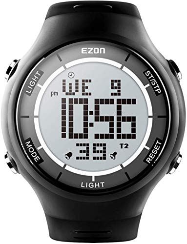 EZON Digital Outdoor Sports Watch with Stopwatches, Waterproof, Unisex Ultra-Thin Wristwatch L008
