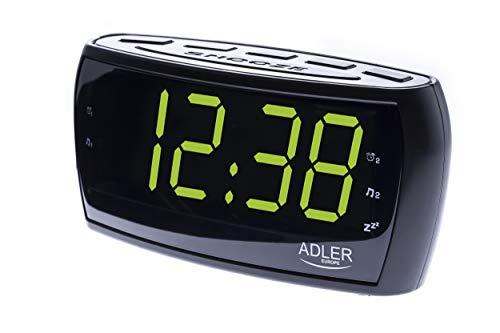 Radiowecker Uhrenradio Uhr Wecker AM/FM Radio Helligkeitsregler mit extra großem Display