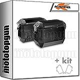 kappa maletas laterales kms36bpack2 kmission 36 lt + portamaletas laterales fijacion rapida monokey compatible con bmw r 1200 gs adventure 2018 18