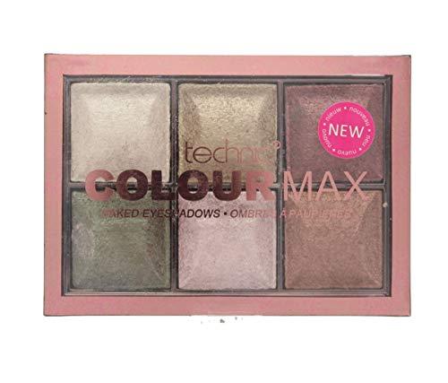 Technic Colour Max 6 Colour Baked Eyeshadows 6x2g-Cappuccino