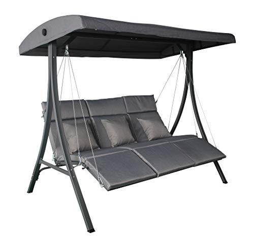 Pure Home & Garden 3-Sitzer XXL Hollywoodschaukel Vippe, ergonomisch geformt