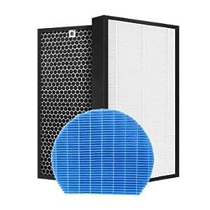 Filtro purificatore d'aria FIT for Sharp FZ-A51HFR FZ-A51DFR FZ-A60MFE Parti di ricambio purificatore d'aria HEPA e carbone attivo e filtro per umidificazione KC-A50EUW