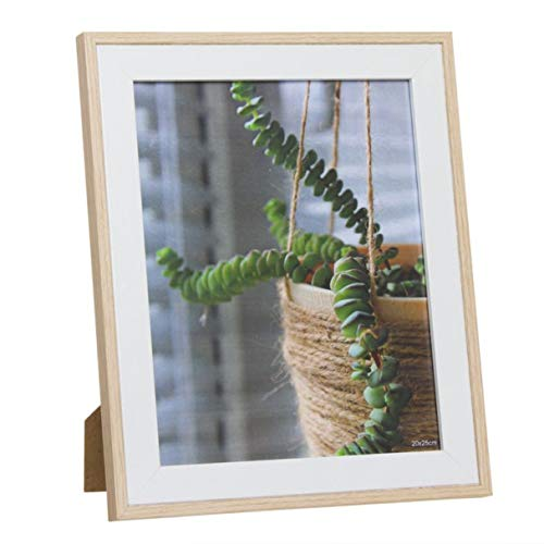 Vidal Regalos Marco de Fotos 20 x 25 cm Portafotos Blanco Imitacion Madera 30 cm